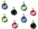Silver Plated Swarovski Channel Birthstone Charms